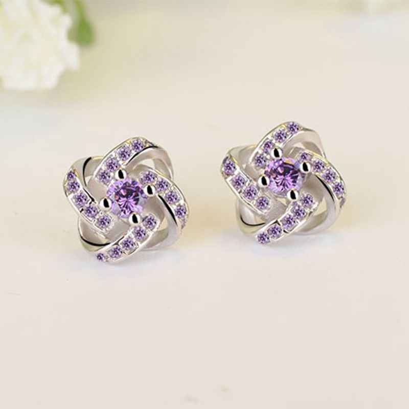 ... ZRHUA 2019 New Korean 925 Sterling Silver Stud Earrings For Women  Fashion Jewelry Accessories Elegant Brinco ...