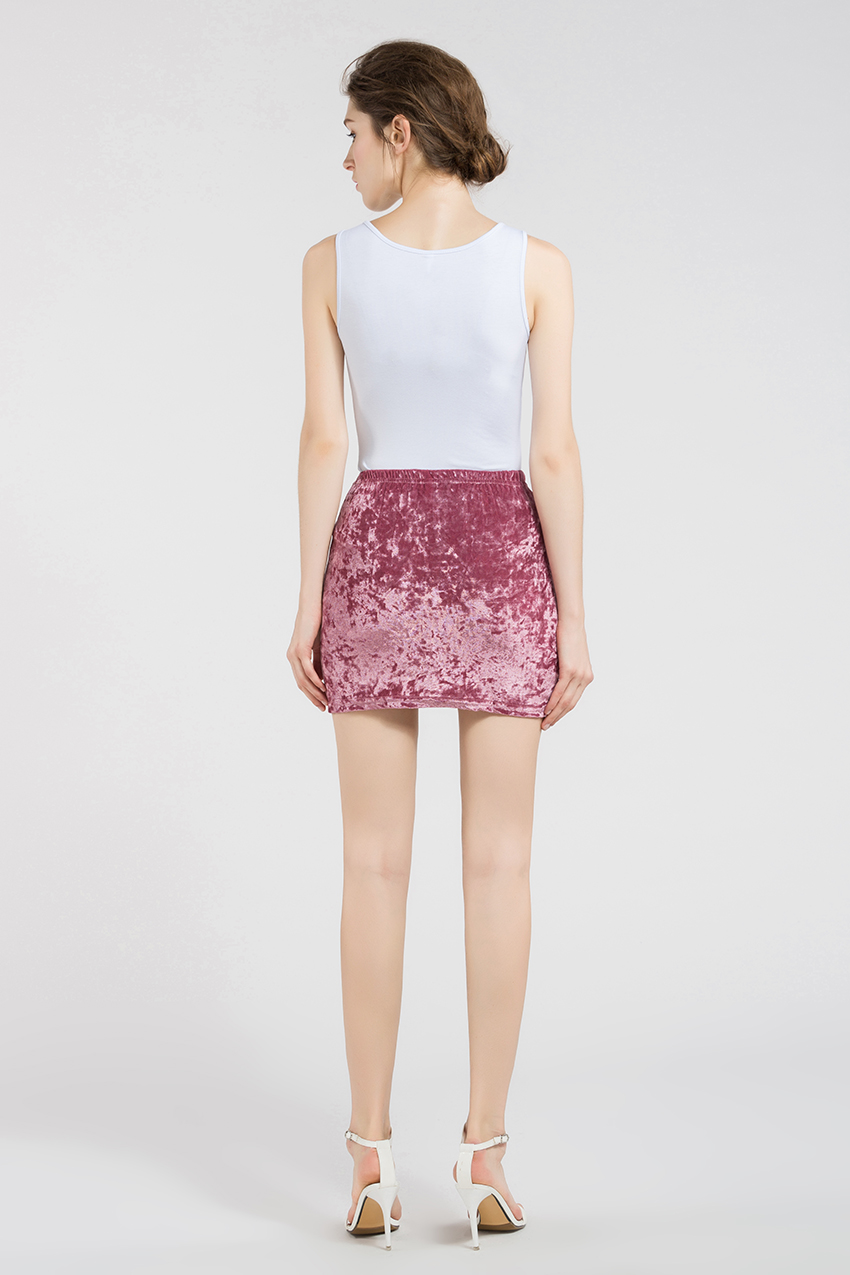 HTB1mqSgRXXXXXX6XFXXq6xXFXXXl - FREE SHIPPING !!!! Velvet Skirt Women Autumn Black Pink Elastic High Waist Female JKP324