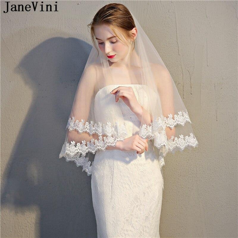 Bride Lace Veil Elbow Length With Comb Bridal