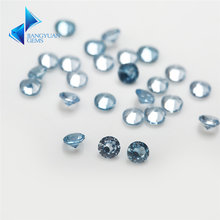 Размер 1 мм ~ 3 круглая огранка светло голубой камень 106 #