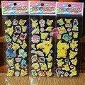 Pikachu Sticker Pokeball Cartoon 3D Model Pokeball Toy Pikachu Sticker Children Kids Baby Best Gift Free shipping