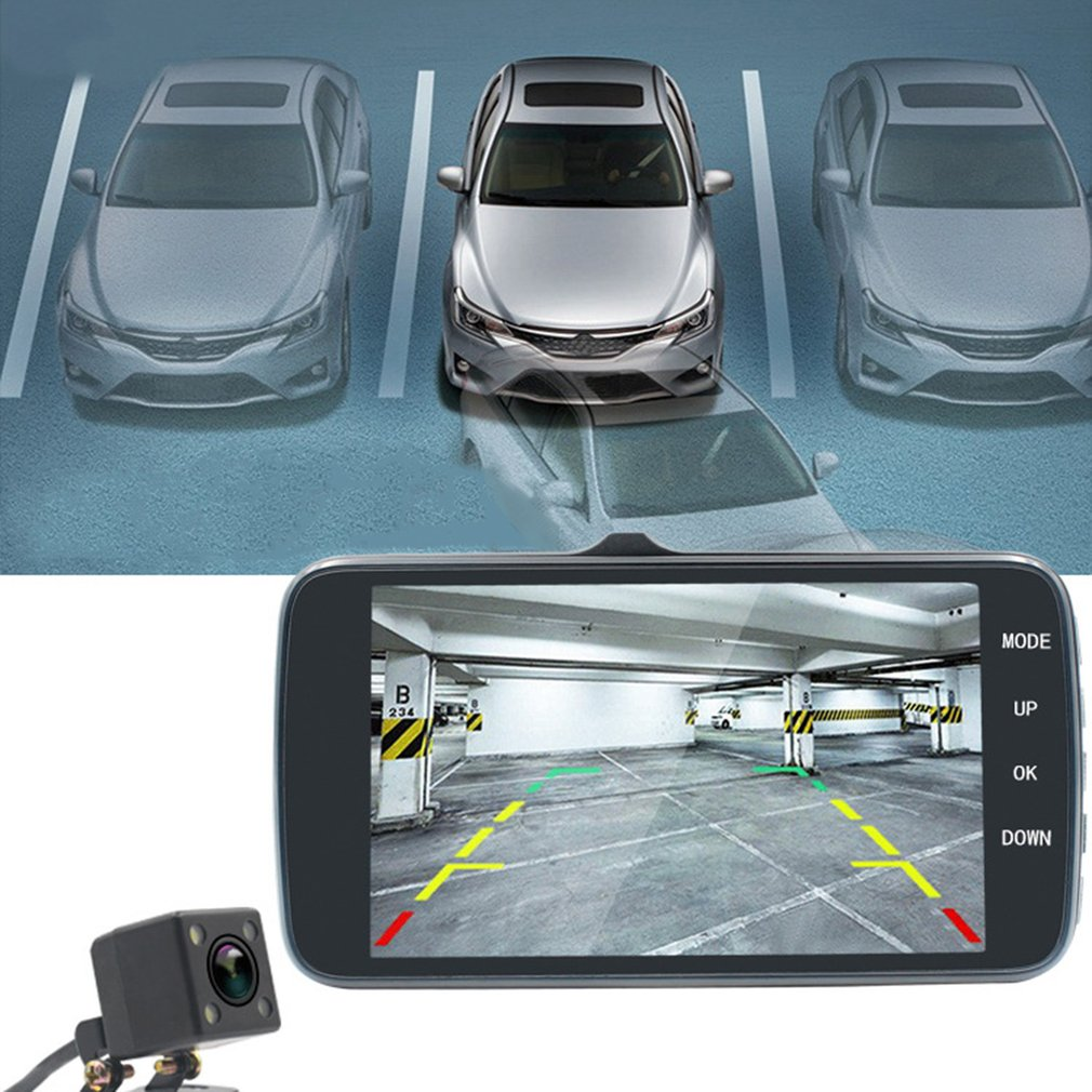 Dual Lenses 4 Inch Car Video Recorder Full HD 1080P Camera Night Vision Motion Sensor Car DVR Automobile Data Recorder New