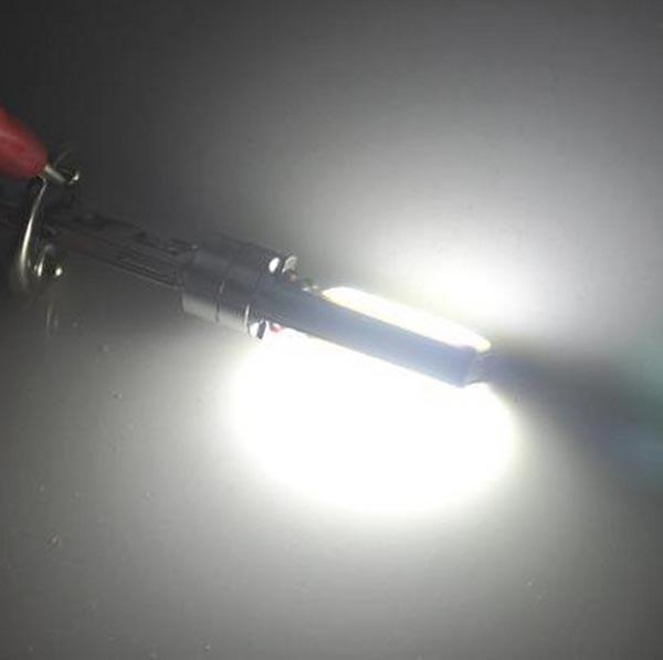 50 шт. H3 светодиодный высокое Мощность COB 10 Вт автомобилей Белый h1 880 881 светодиодный фонарь лампочка фары 6000 К белый свет