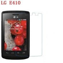 3 PCS HD telefone filme PE toque preservar a visão para LG L1X E410 Optimus L1 II protetor de tela com Limpar
