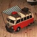 Hand made Tin Model Retro Classic Volkswagen Camper Van Craft Desktop Display quality art work Home Decoration kid toy gift