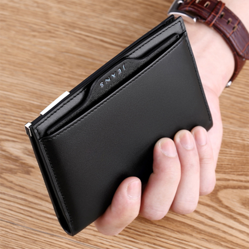 WILLIAMPOLO Removable Card Holder Wallet Men Slim Wallet Genuine Leather Small Thin Purse For Male 2019 Fashion Short Wallet