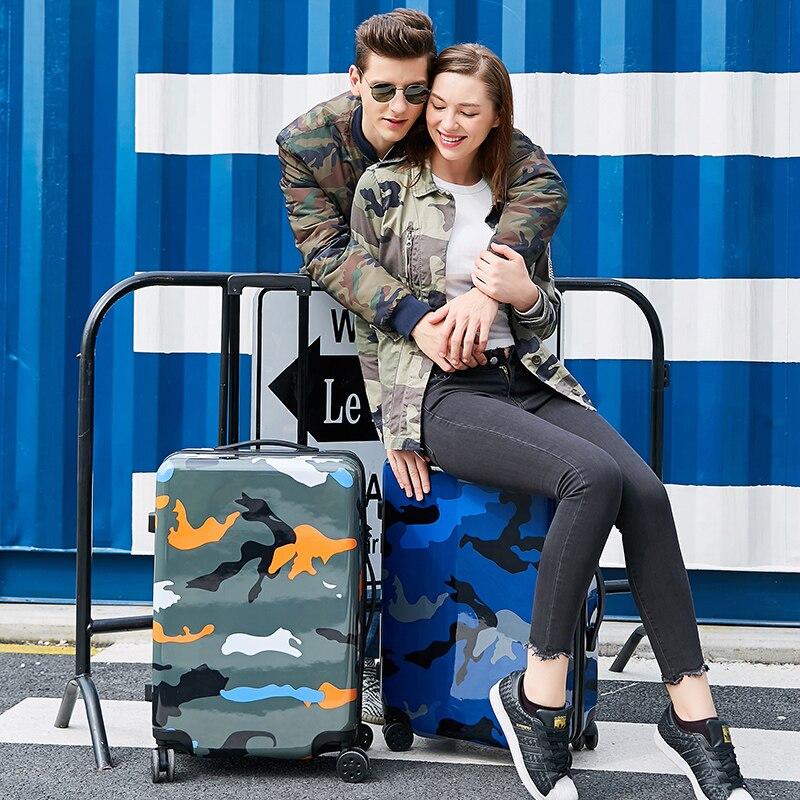 20 дюймов девушка прекрасный трав багаж, девушка конфеты сращивания цвет hardcase багаж тележки на универсальных колесах - 6