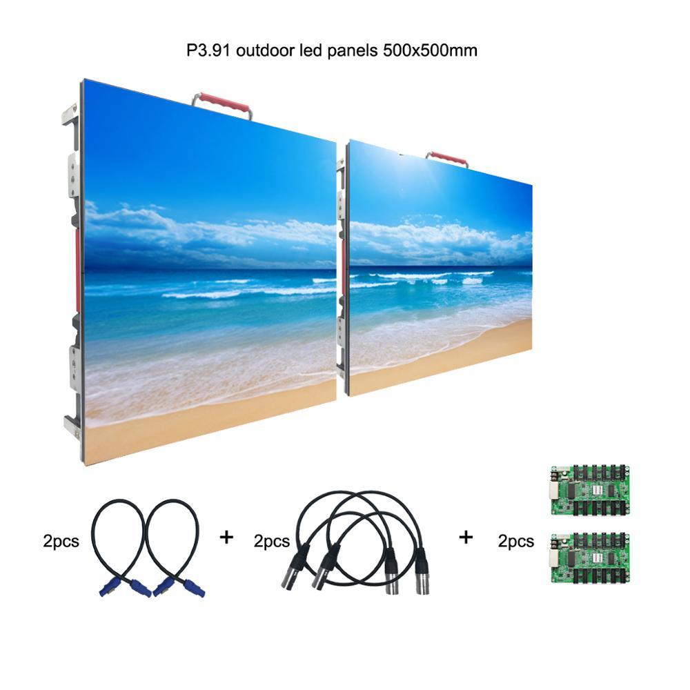 HD extérieur IP65 étanche P3.91 location panneau mur vidéo LED 1.64ft x1.64ft pour Concert de musique et événements