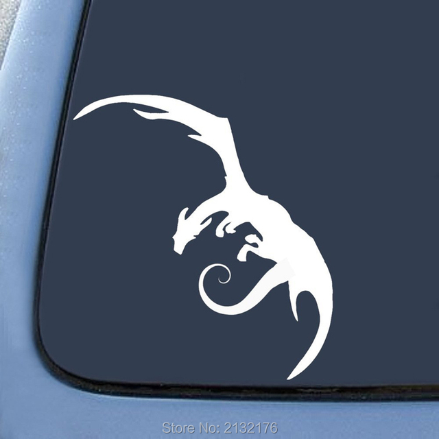 Lotr smaug dragon sticker note bumper sticker decal car window premium quality die cut vinyl decal