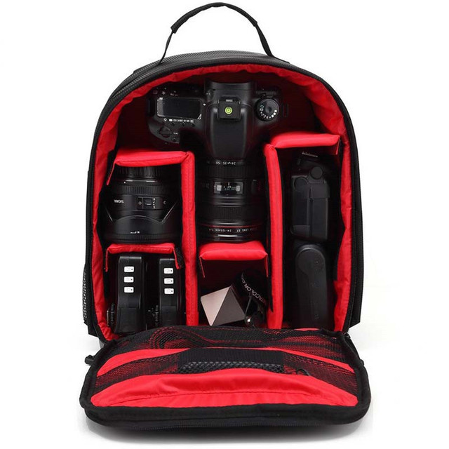 High Quality Video Photo Digital Camera Shoulders PE Padded Backpack Waterproof Shockproof Bag Tripod Case w/ Rain Cover TG