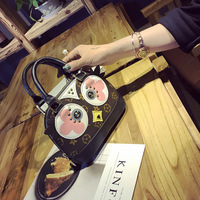 Women Messenger Bags Louis Bag Same Style PU Leather Rivet Handbag Cute Mini Cartoon Owl Shoulder
