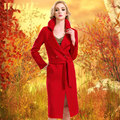 sales promotion womens coat woolen coat wool women coat female coat 100% pure cashmere jacket woman free shipping