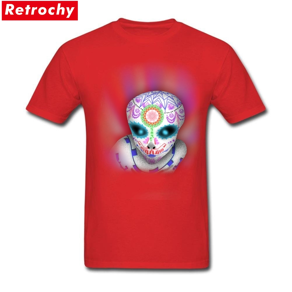 2017 Elegant Sugar Skull Band Merchandise Mens Short Sleeve Boyfriends Eco Cotton Custom Make Guy Summer Tshirt Big Size