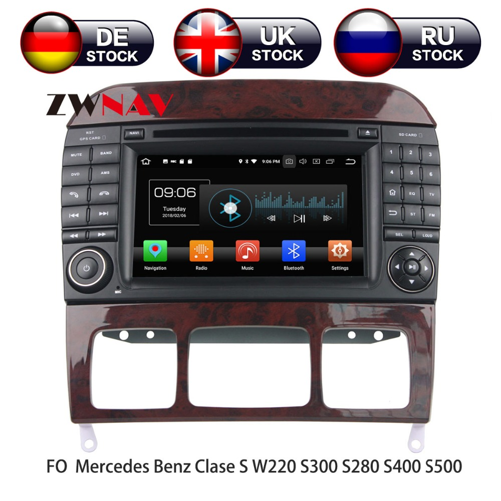 Android 8 Car DVD Player GPS navigation For Mercedes Benz S-Class W220/S280/S320/S350 head