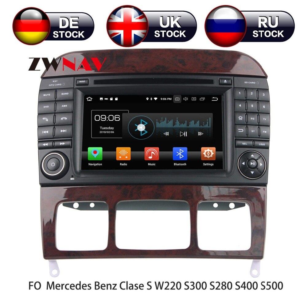 Android 8 dvd плеер автомобиля gps навигации для Mercedes Benz S класс W220/S280/S320/S350 головное устройство мультимедийный плеер Pad