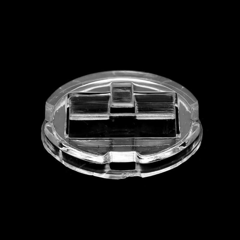 Anel de dedo transparente expositor titular bandeja de jóias anel plástico vitrine