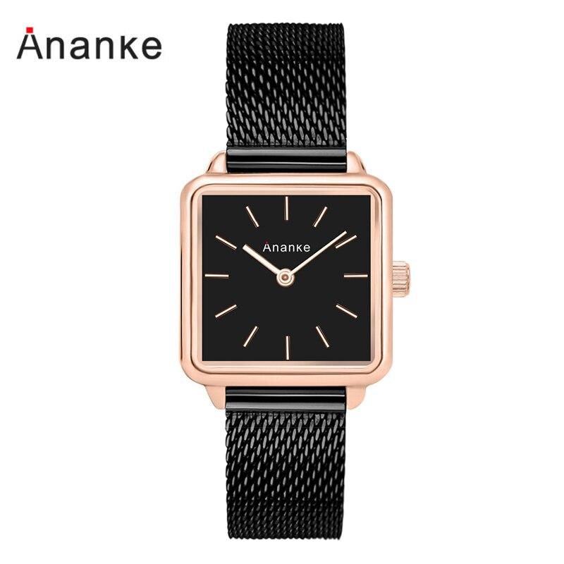 Ananke Minimalist Women Watches Luxury Brand Square Wrist Watch For Women Relogio Feminino Montre Femme