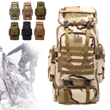 80L Waterproof Climbing Hiking Military Tactical Backpack Bag Camping Mountaineering Outdoor Sport Bag 6 colors Large Backpacks tactical military backpacks molle hunting camouflage climbing bag back packs outdoor camping waterproof hiking backpacks 80l