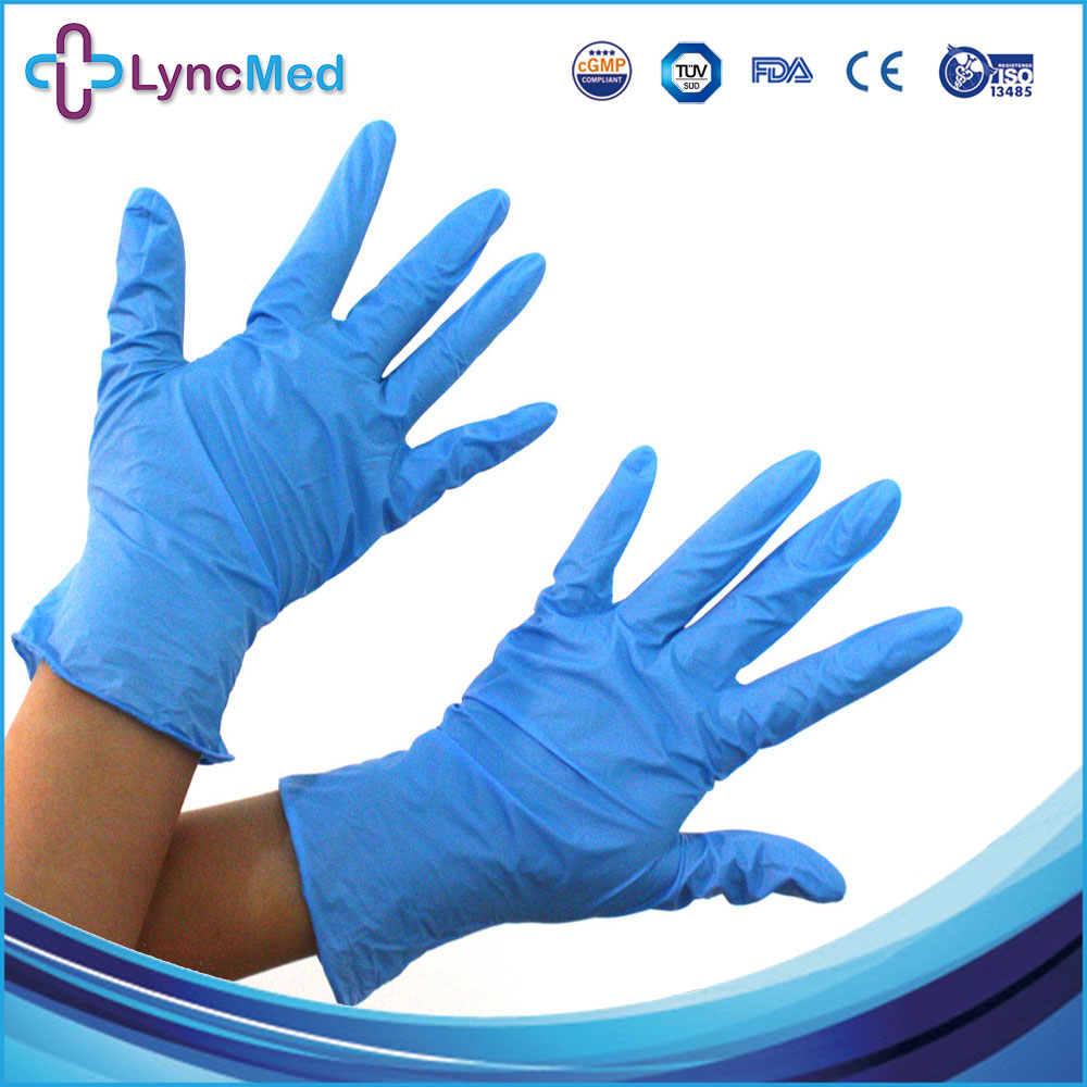 LyncMed 100pcs/Pack Extra Strong Medical Purple Powder Free Nitrile Disposable Gloves 10 pairs pack acid and alkali extra strong medical black free nitrile disposable gloves electronics food medical laboratory