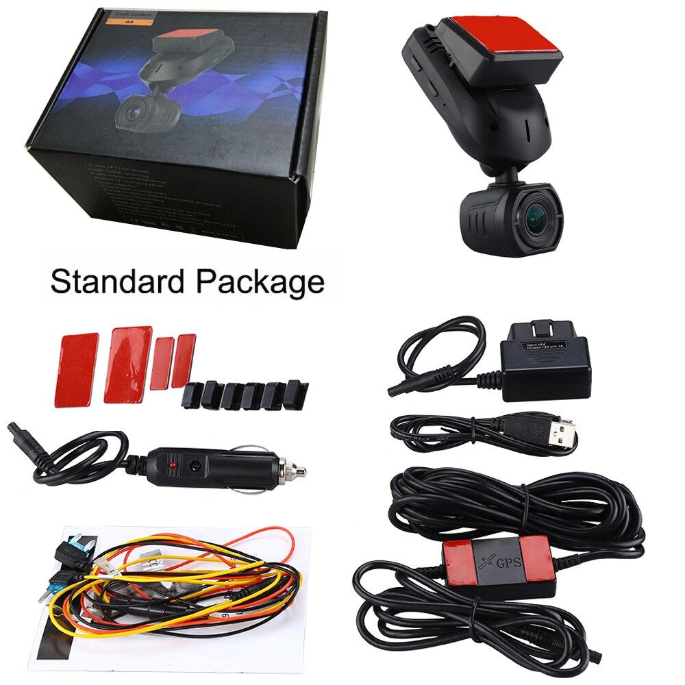 Conkim nouveau Mini Q9 HD voiture DVR 2 caméras avant 1080P + caméra de vue arrière avec Super condensateur voiture enregistreur Mode de stationnement GPS Tracker - 6