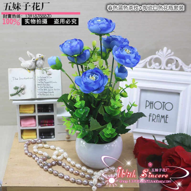 Набор пластиковый стол спальня дисплей цветочный декор Домашнего Интерьера гостиной журнальный столик цветок лошадь украшения