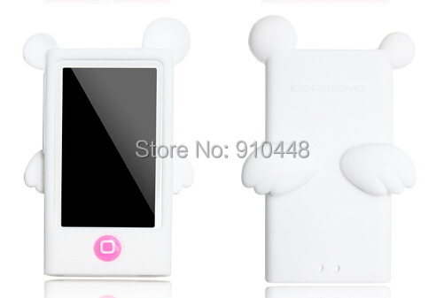 Free shipping Candy Color Soft TPU Silicone Angel Devil Style Case for Apple iPod Nano 7 with screen protector Retail package