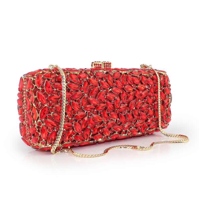 2017 fashion Hollow luxury red diamond clutch prom party evening bags wedding prom dinner clutch handbag(8766A-GY) 2017 time limited patchwork hard female colorful diamond new design luxury evening bag handbag dinner party prom wedding clutch