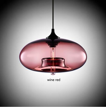 Nordic Modern Hanging Lamp Body Color: wine red Ships From: United Kingdom