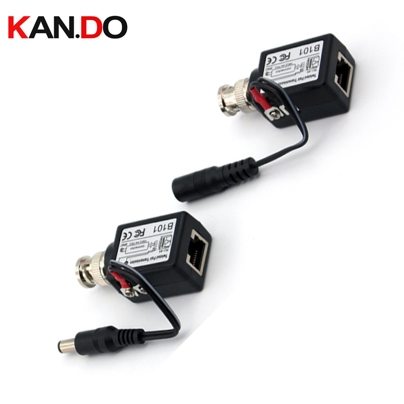Long Distance Transmission Video Power Balun High Quality Bnc Connector To Rj45 Power Video Balun For Cctv Camera BALUN