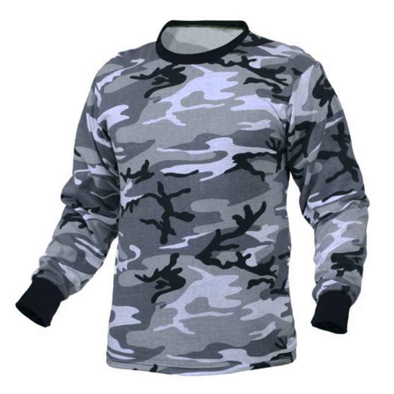 Autumn Military Camo Men T Shirts Long Sleeve Camouflage Tactical Loose Fitness Combat TShirt Bodybuilding Joggers Hombre 3XL