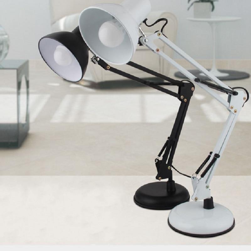 ФОТО E27 LED reading light study bedroom American led work lamp long arm folding night lights table lamp Indoor Lighting IY106134