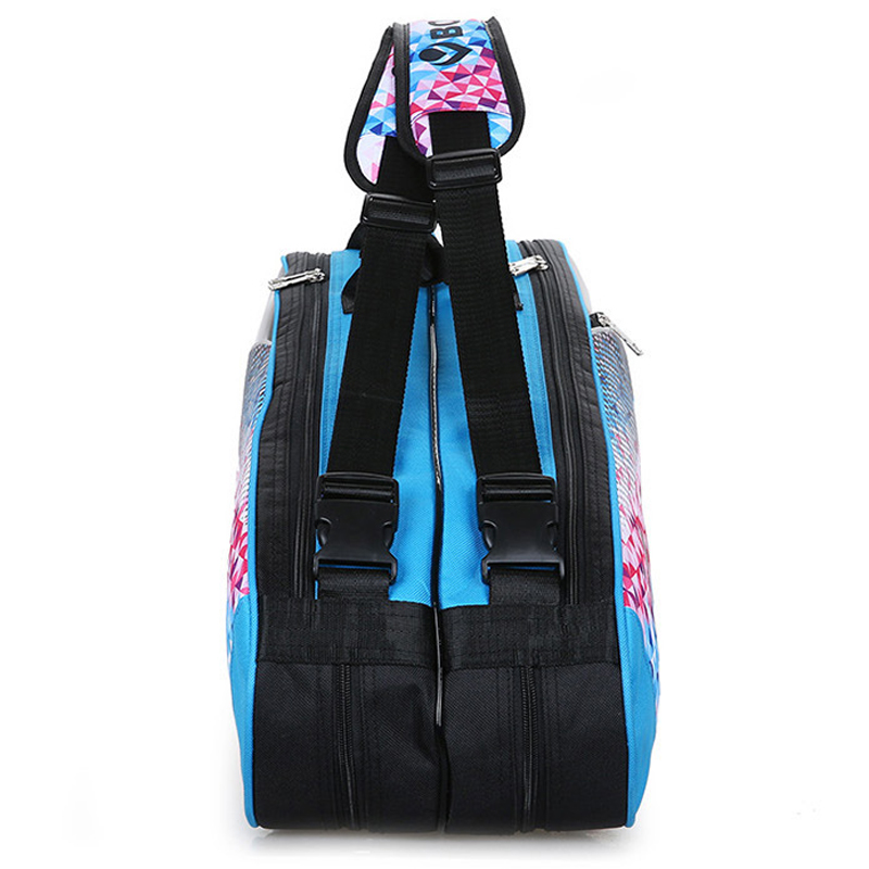 2019 Quality Tennis Racket Bag 9Pcs Large Badminton Bags For Training PU Shoulder Racquet Sport Bags with Double Shoes Pocket