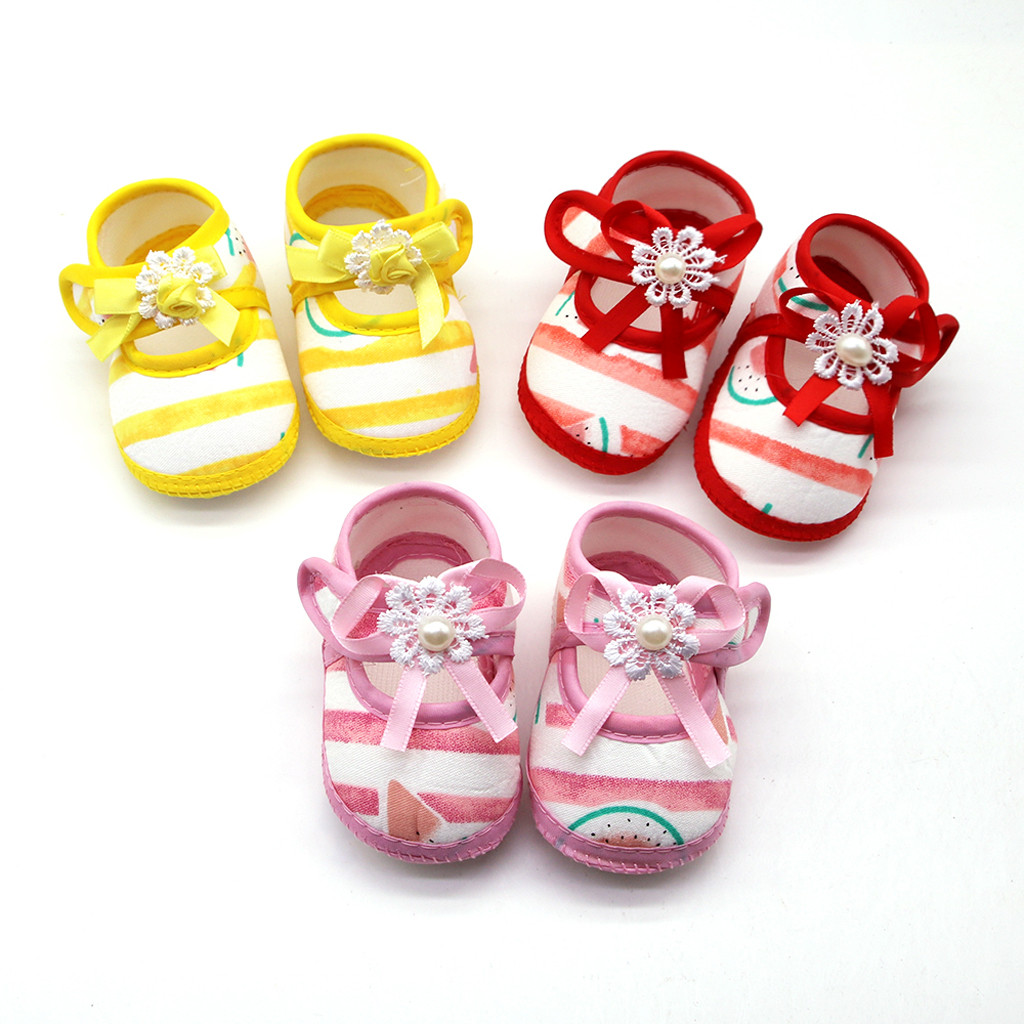 Shoes Girls Prewalker Soft-Sole Newborn-Baby Watermelon -P45us Bebek-Ayakkabi Printing