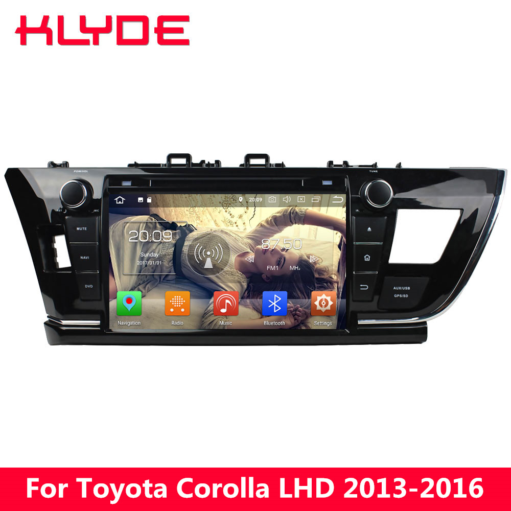 KLYDE 9 4G Octa Core Android 8.0 7.1 6 4GB RAM 32GB ROM Car DVD Multimedia Player Radio Stereo For Toyota Corolla 2013-2016 LHD