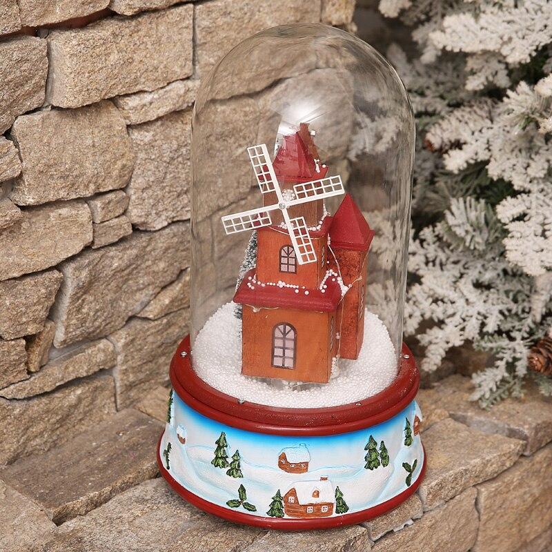 Heißer Verkauf Neueste 2019 Weihnachten Präsentiert mit Musik Lichter Schwimm Schnee Glas Abdeckung Romantische Weihnachten Eve Geschenk Paket Mail - 3