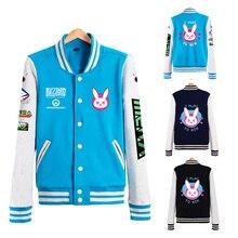 D.va Jacket Dva Baseball Coats Autumn Clothes For Women D.va Jackets Tracer Genji Reaper Reinhardt Pharah Soldier 76 Unisex Coat
