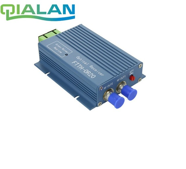 CATV FTTH Receiver AGC Micro SC APC Duplex Connector with 2 output port WDM for PON FTTH OR20 CATV Fiber Optical Receiver
