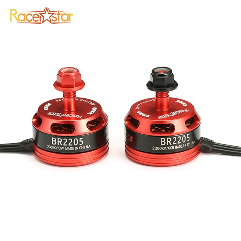 Black Red Racerstar 2205 BR2205 Racing Edition 2300KV 2-4S CW/CCW Brushless Motor For QAV250 ZMR250 260 280 RC Quadcopter