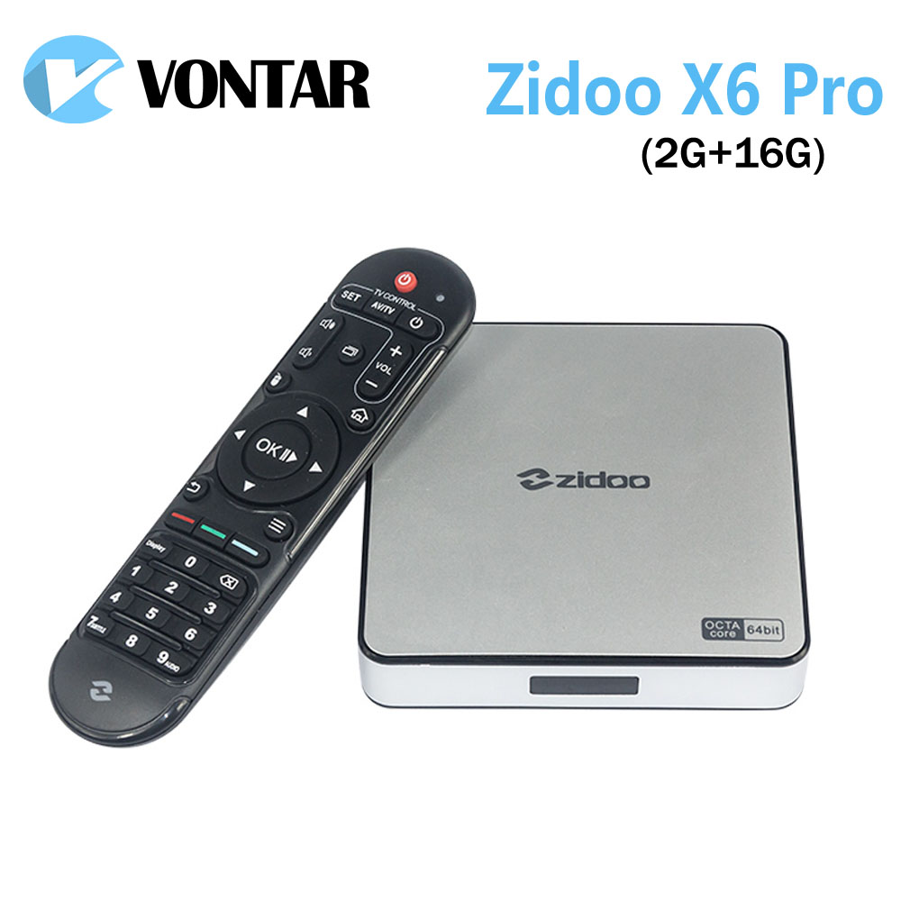 [Genuine] Zidoo X6 Pro Android 5.1 Lollipop TV Box RK3368 Octa Core 2G/16G Gigabit LAN Dual Wifi  BT4.0 HDMI2.0 4K*2K H.265 смарт тв приставка zidoo x6 pro 2 16 гб с android 5 1 и wi fi