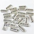 Simular graceangie 17 unids plata antigua encantos de la aleación de la mezcla estilo carta mensaje suspensión colgante de conexión joyería accesorio