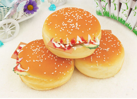 3pcs artificial Cheeseburger toy,big hamburger,Christmas ...