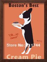 Obraz olejny na sprzedaż modern art streszczenie Boston's Najlepiej Cream Pie Ken Bailey płótnie 100% ręcznie Wysokiej jakości