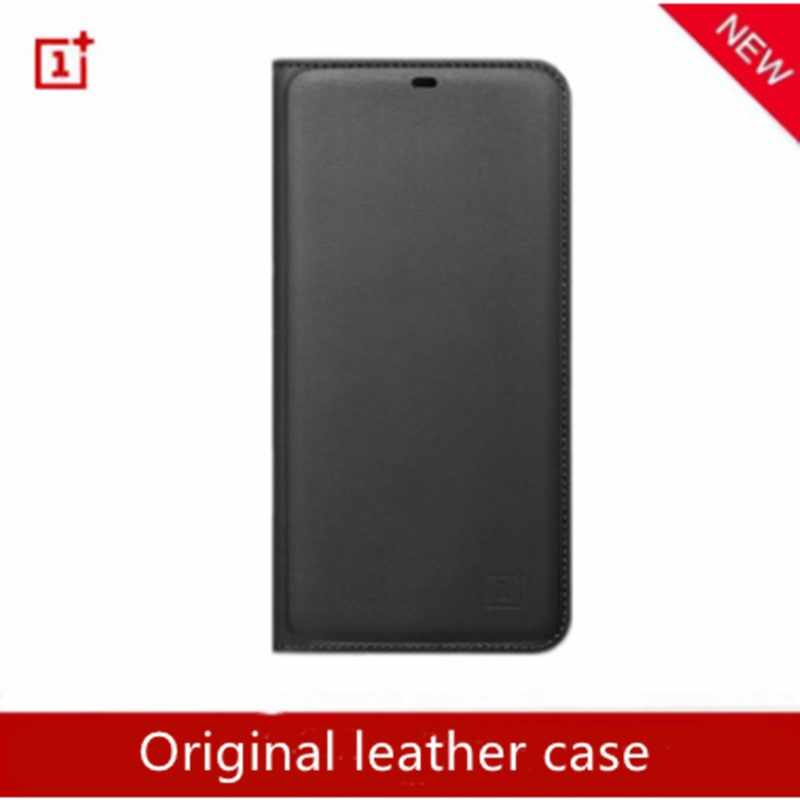 oneplus 6T case original 100% Oneplus official protective cover silicone Nylon Karbon bumper Leather Flip cover one plus 6