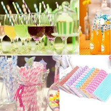 Replacement Straws Multicolor Drinking-Paper Disposable for Birthday-Party Random-Send
