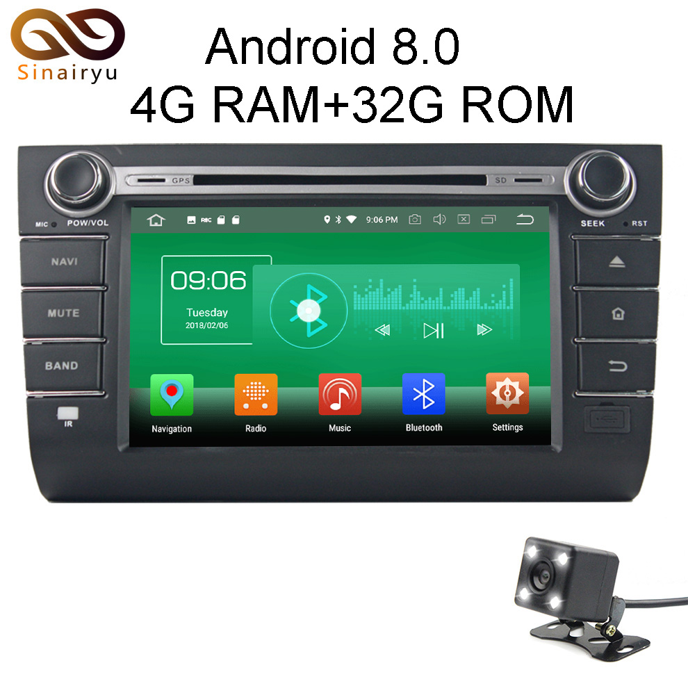 Sinairyu 4 г Оперативная память Android 8.0 автомобильный DVD для Suzuki Swift 2004-2006 2007 2008 2009 2010 Octa core 32 г Встроенная память Радио GPS плеер головное устройство