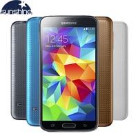 ปลดล็อคเดิมSamsung Galaxy S5 i9600โทรศัพท์มือถือWIFI Quad Core 5.1