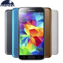 """Разблокирована Оригинальный Samsung Galaxy S5 i9600 Мобильный Телефон WIFI Quad Core 5.1 """"16MP NFC Android Смартфон Восстановленное Телефон"""