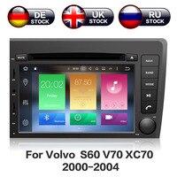 ZWNAV Android 8,0 dvd плеер автомобиля головное устройство для VOLVO S60 V70 XC70 2004 2000 авто gps навигация Радио экран