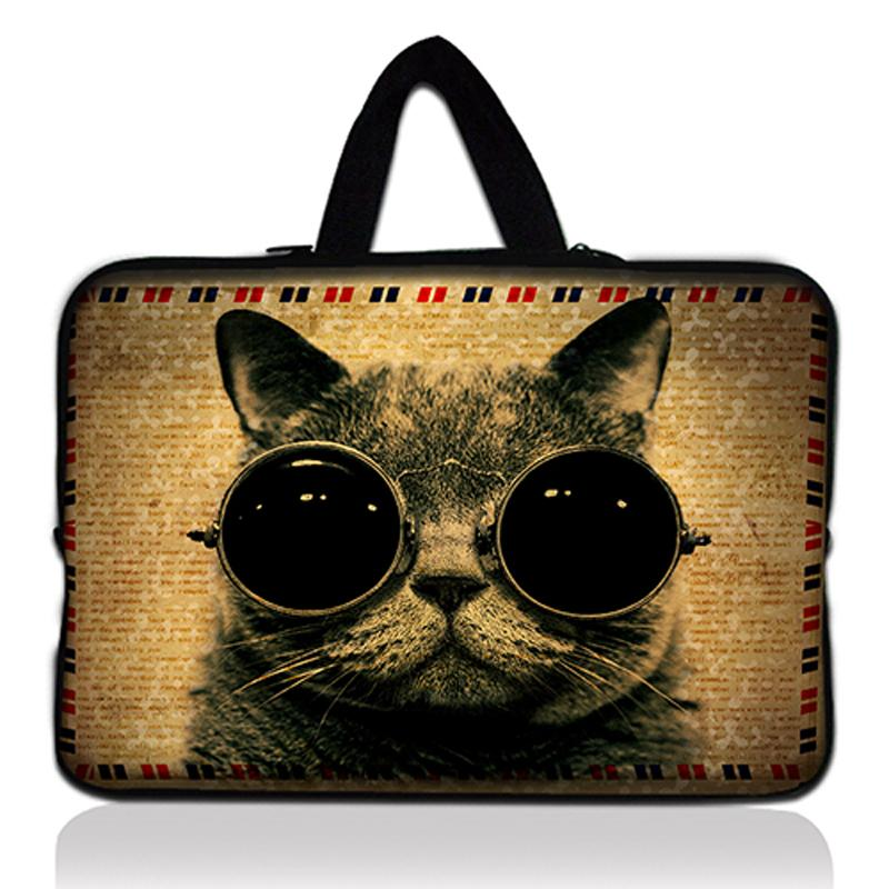 13 13.3 Glasses Cat Neoprene Laptop Bag Tablet Sleeve Pouch Bag For Notebook Computer Bag 13 13.3 For Macbook Air / Pro