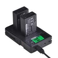 PowerTrust 2 pièces 1200 mAh EN-EL20 EN-EL20a EN EL20 Batterie + LCD Double Chargeur USB pour NIKON 1 J1 J2 J3 S1 Batteries de Caméra